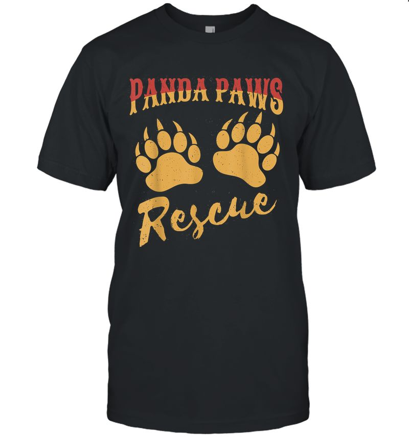 Funny Panda Paws Rescue T-Shirt
