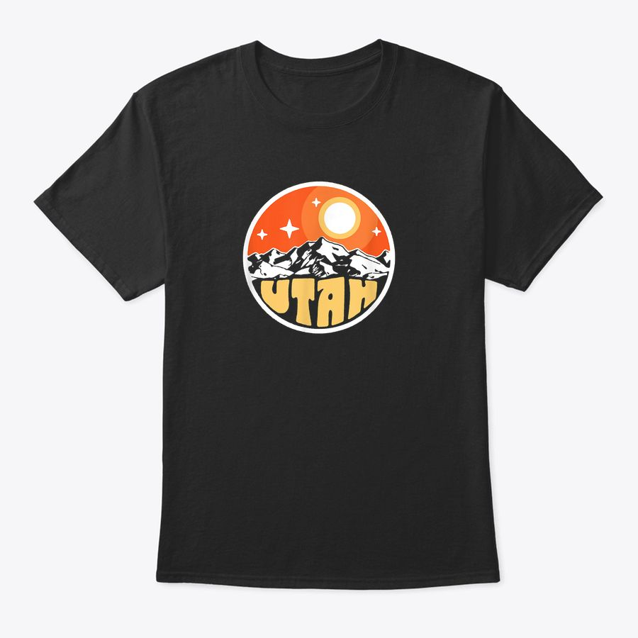 Vintage Utah Mountains At Night Retro Moon & Stars Outdoor T-Shirt