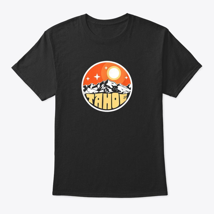 Vintage Lake Tahoe Mountains At Night Retro Moon & Stars T-Shirt