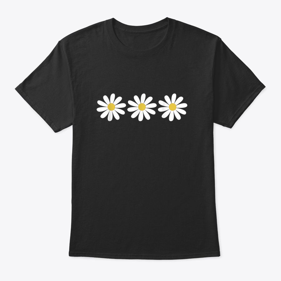 3 Simple But Pretty Daisy Flower Tee T-Shirt