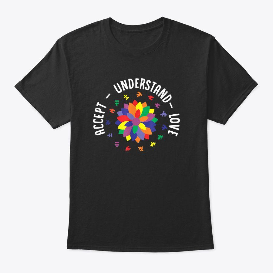 Accept Understand Love Floral Autism Awareness T-Shirt