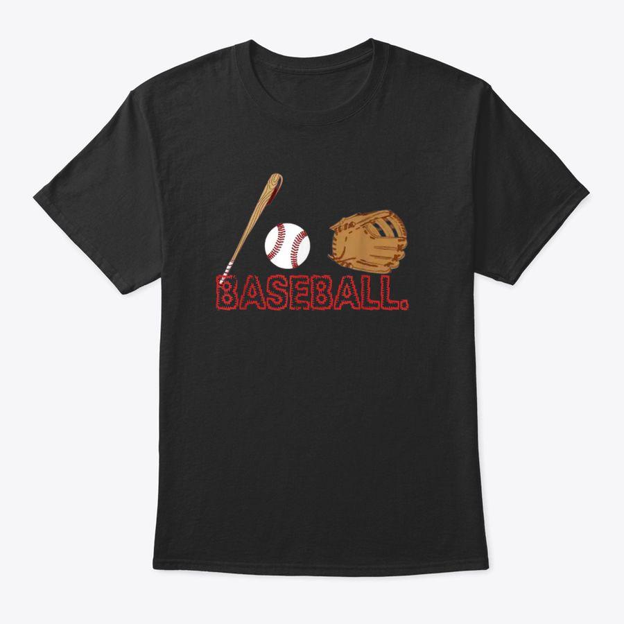 Vintage Baseball Bats, Hats, Glove Gift Those Who Love Sport T-Shirt