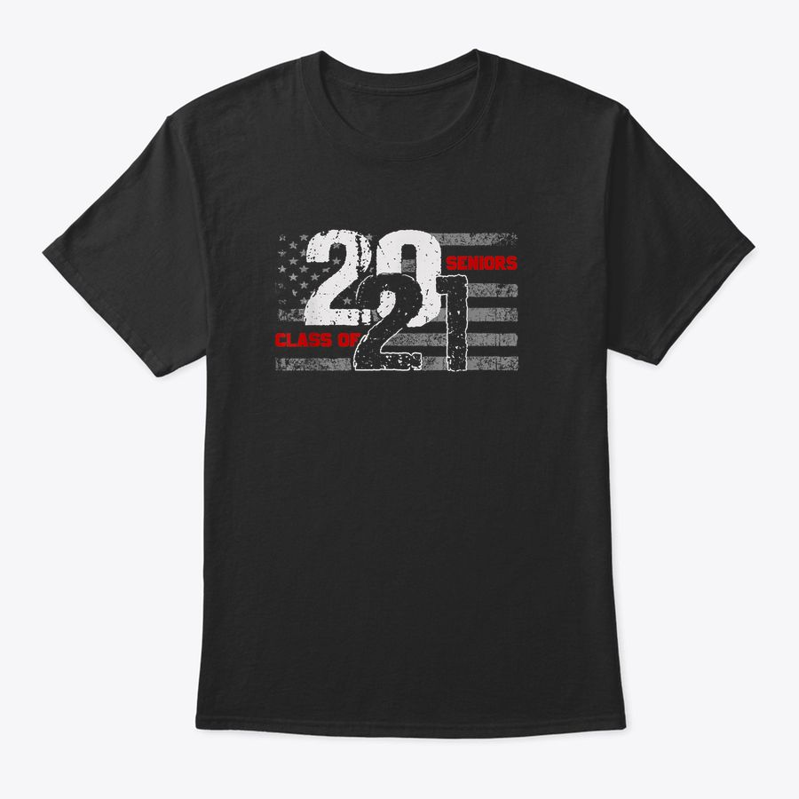 Class Of 2021 Distressed American Flag Seniors T-Shirt