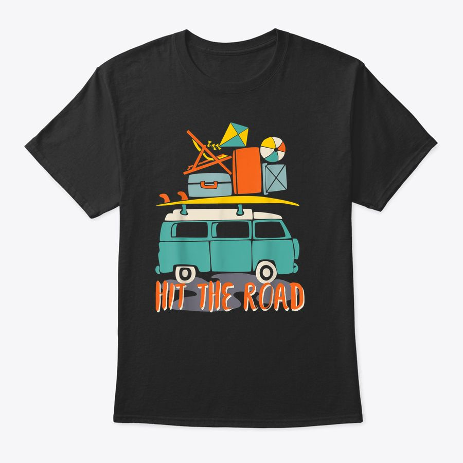 Road Trip 2019 Family Summer Vacation Hippie Bus Surf Gift T-Shirt