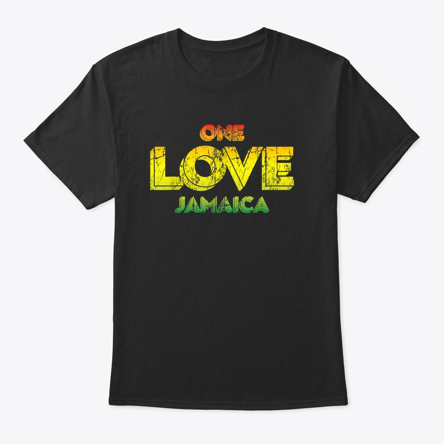 Reggae Retro Rastafari Gift Rasta Quote One Love Jamaica T-Shirt
