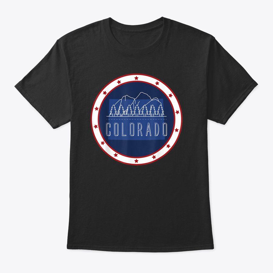 Vintage Mountain Designs Of Colorado - Colorado Day T-Shirt