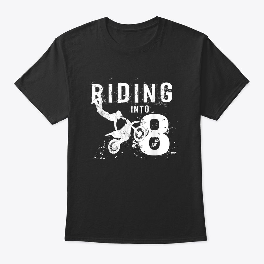 Riding Into 8 Years Old 8Th Birthday Boy Dirt Bike Party T ...