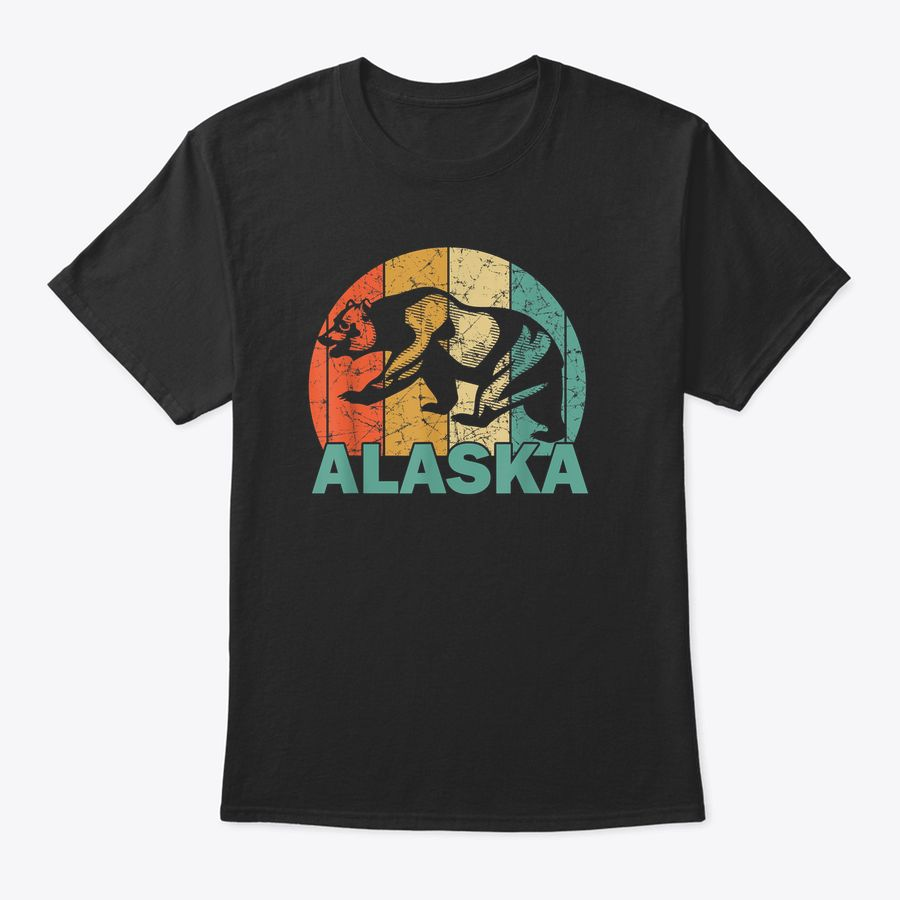 Retro Alaska Bear Shirt For People Who Love Alaska T-Shirt