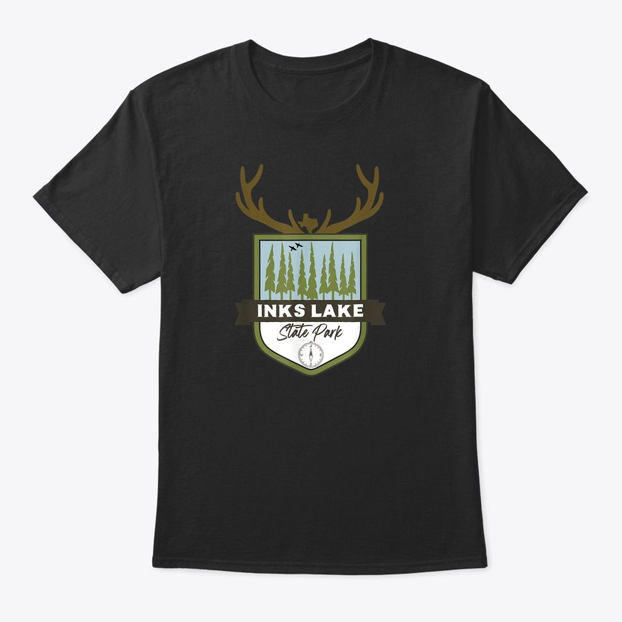 I Love Inks Lake State Park Texas Tx Flag Lonestar Heart T-Shirt