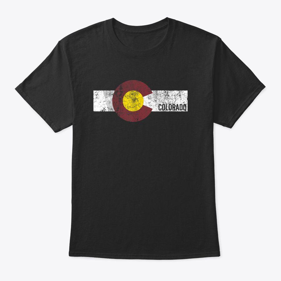 Colorado Flag Vintage Style Retro Men Women Kids Distressed T-Shirt