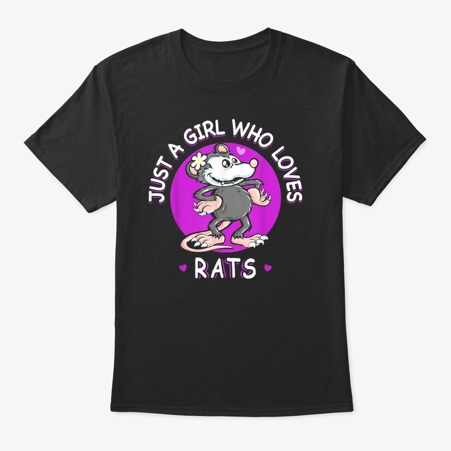 Just A Girl Who Loves Rats Funny Cute Pet Mom Gift T-Shirt