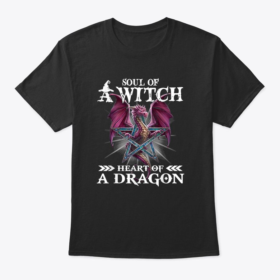 Soul Of A Witch Heart Of A Dragon Funny Gift For Dragon Love T-Shirt