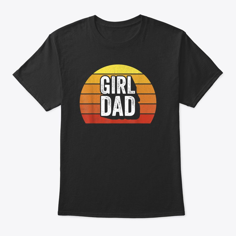 Retro Girl Dad Shirt Proud Father Love Dad Of Girls Vintage T-Shirt