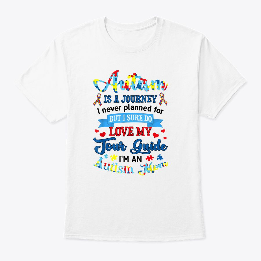 Love My Tour Guide Im An Autism Mom Autism Awareness Present T-Shirt