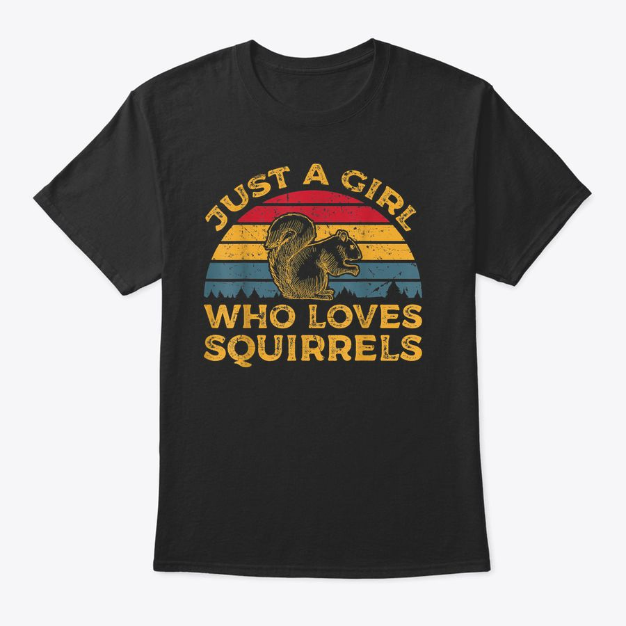 Vintage Just A Girl Who Loves Squirrels T-Shirt