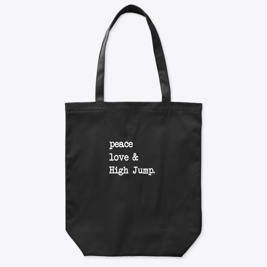 Peace Love & High Jump  | Track And Field Gift Tote Bag