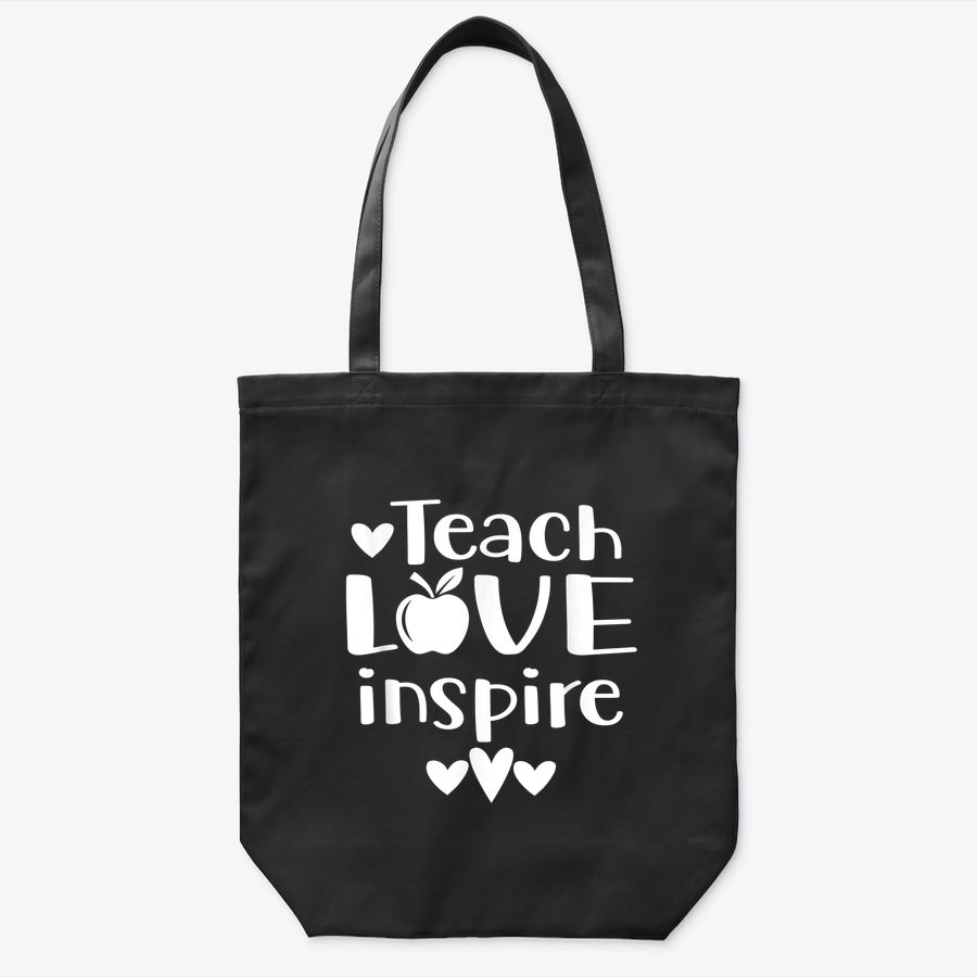 Teach Love Inspire Red For Ed  Teacher Supporter Tote Bag