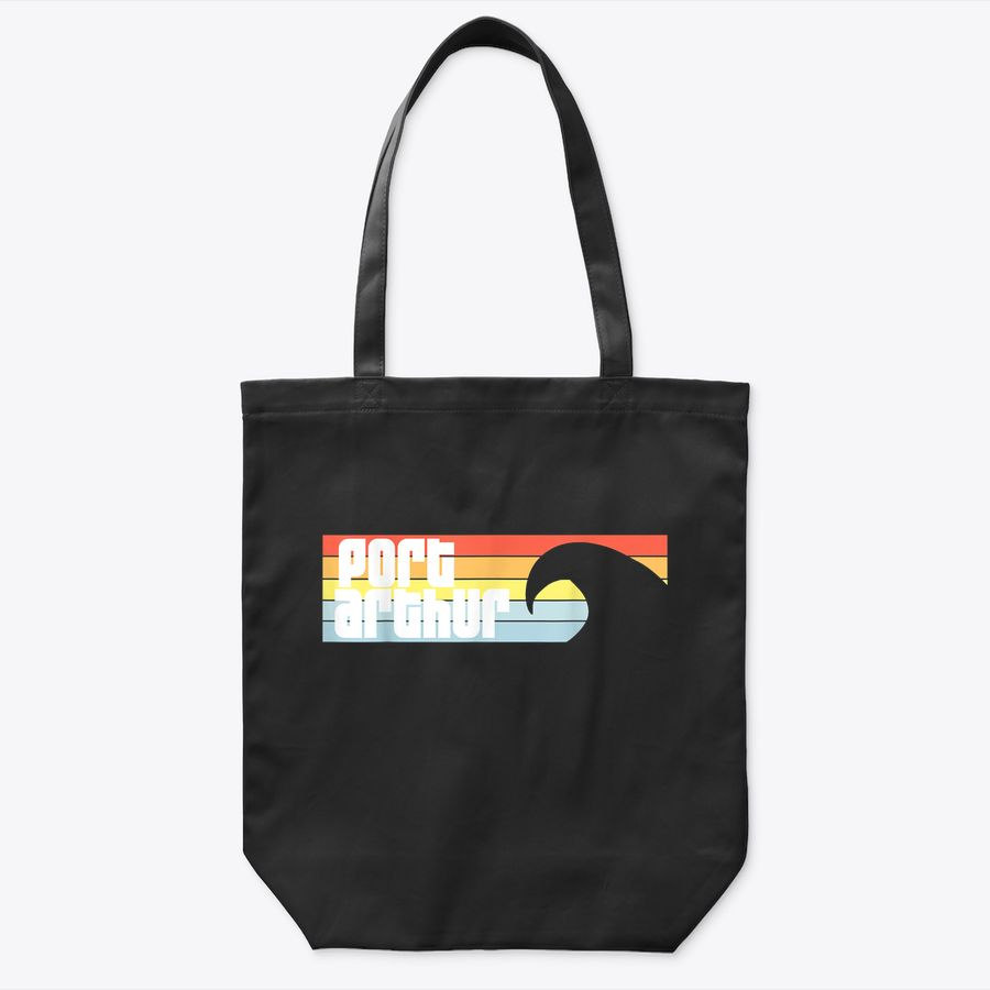 I Love Port Arthur Beach Texas Tx Atlantic Wave Tote Bag