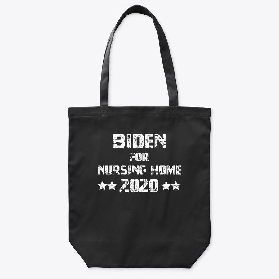 Vintage Biden For Nursing Home Anti Biden Pro Trump 2020 Tote Bag