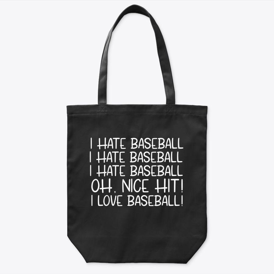 Funny I Love Baseball Pun Tote Bag