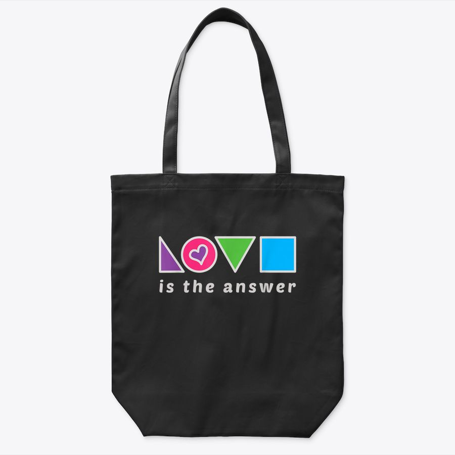 Love Is The Answer: Aesthetic Heart Inspiring Love Peace Tote Bag