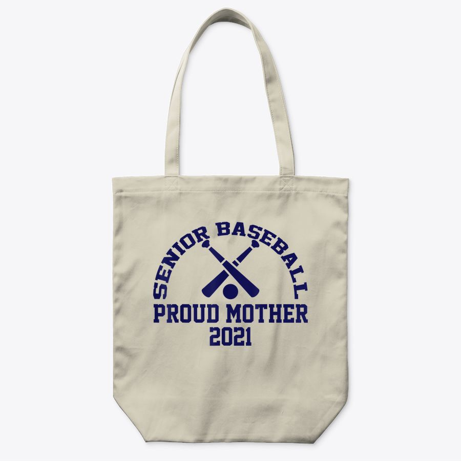 Senior Baseball Proud Mother 2021 Vintage Design Graphic Tote Bag