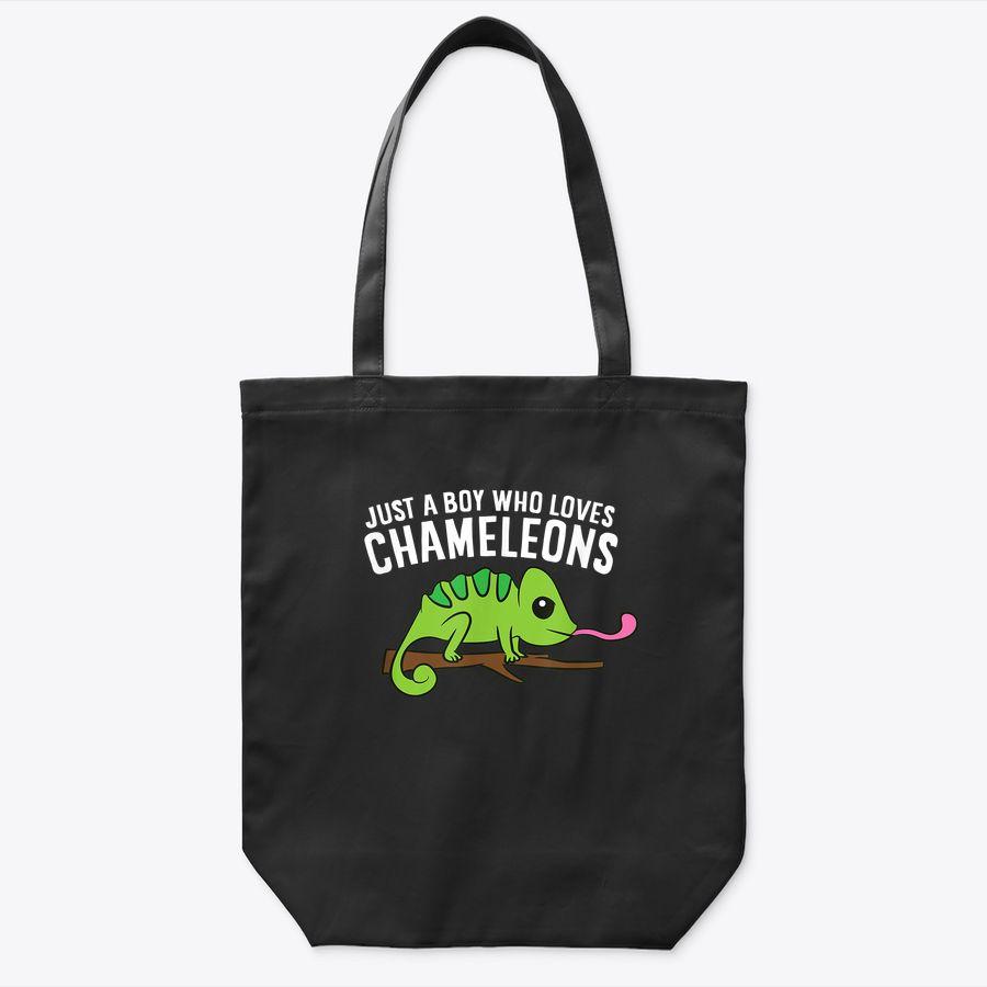 Just A Boy Who Loves Chameleons Tote Bag