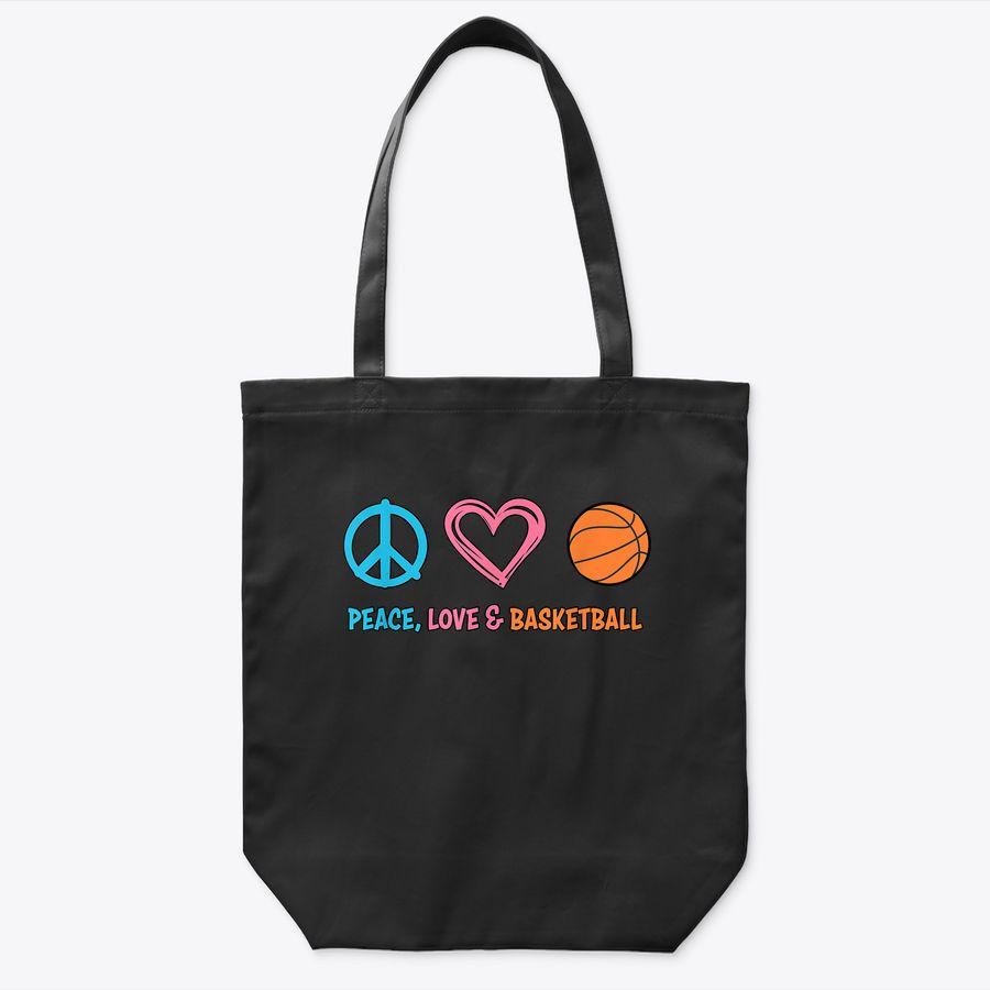 Basketball Tote Bag: Peace Love And Basketball