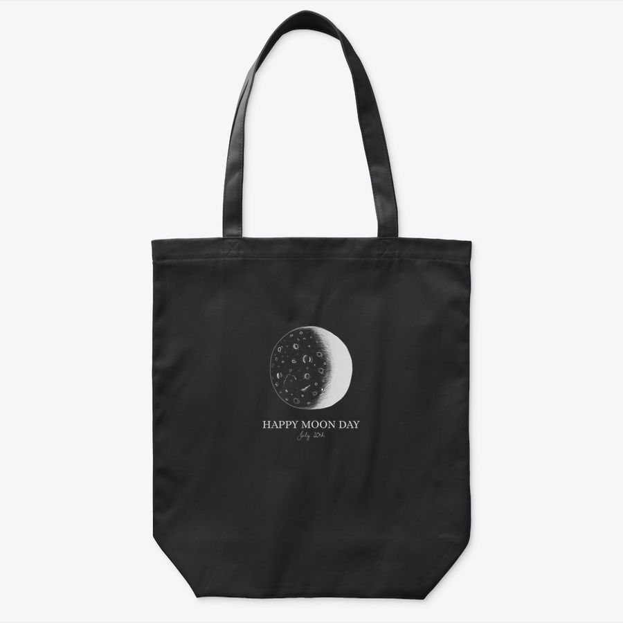 National Moon Day July 20Th Crescent Tote Bag