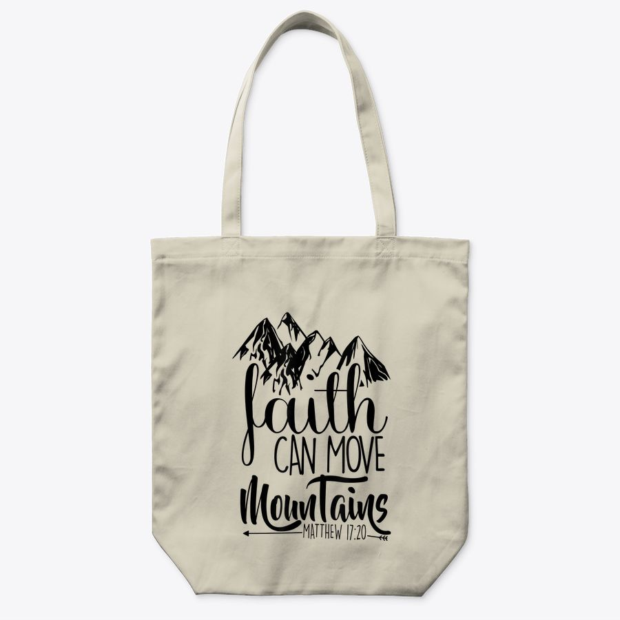 Faith Can Move Mountains Christian Tote Bags