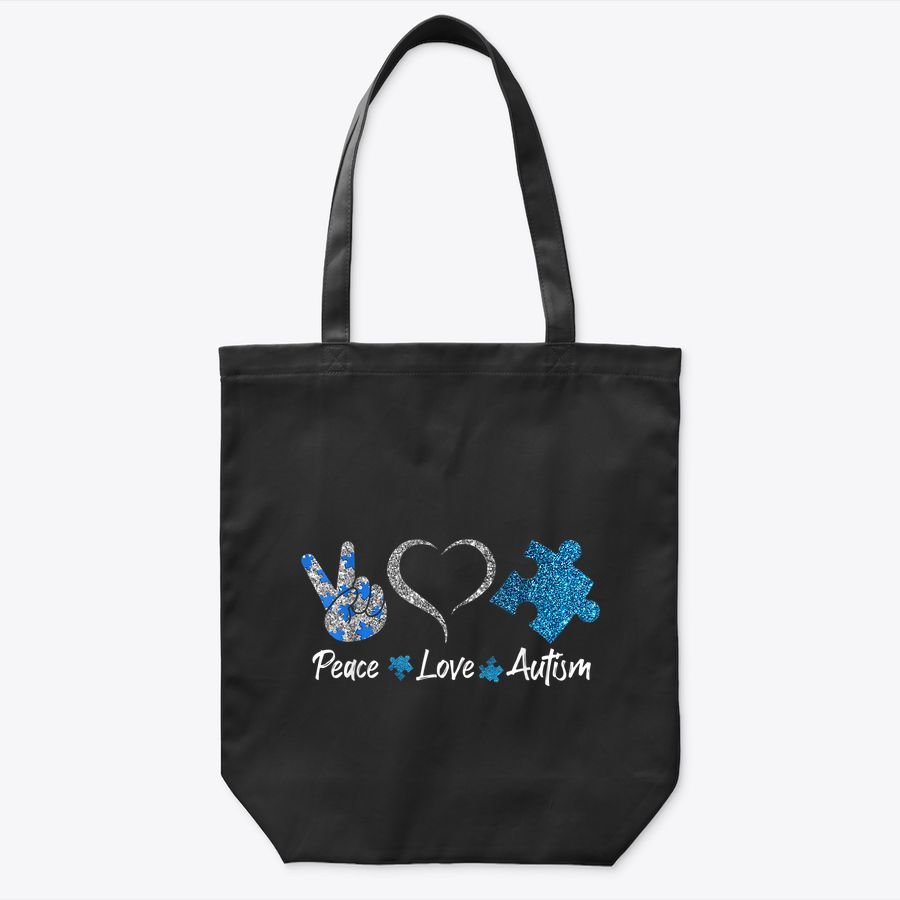 Hippie Peace Sign Autism Awareness Gift Autism Tote Bag