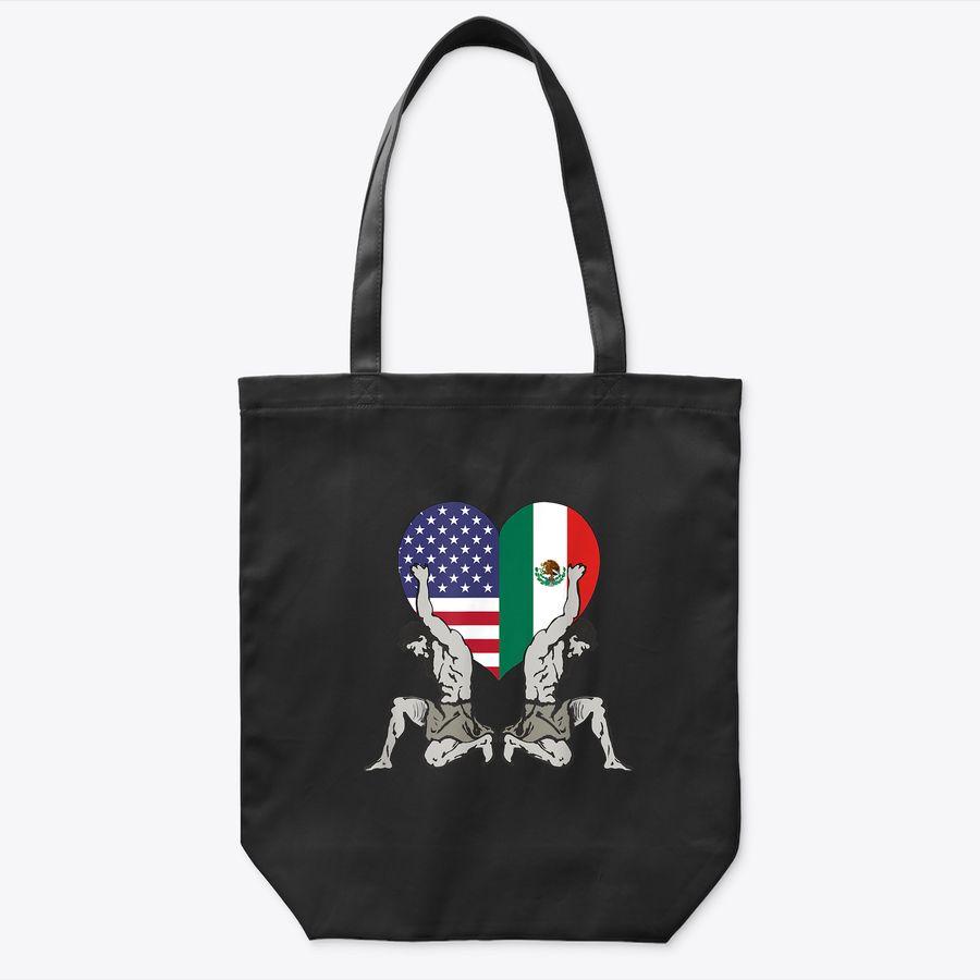 I Love Mexico And Usa, Tote Bag