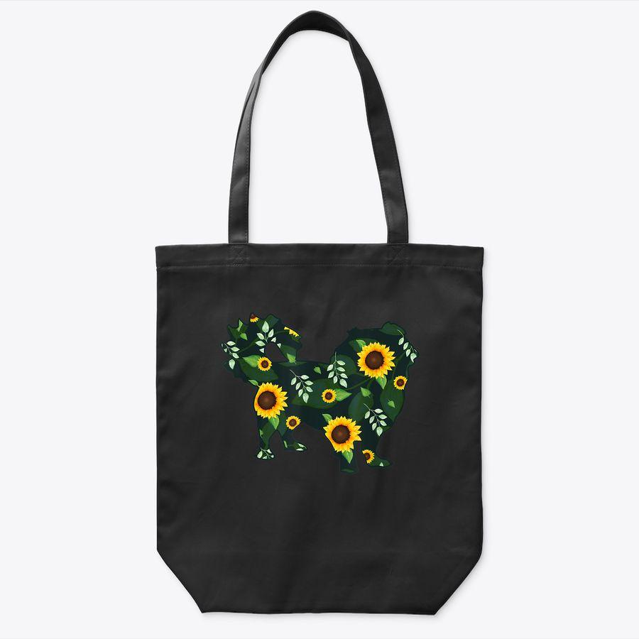Pekingese Sunflower Girl Floral Pelchie Hawaiian Women Gift Tote Bag