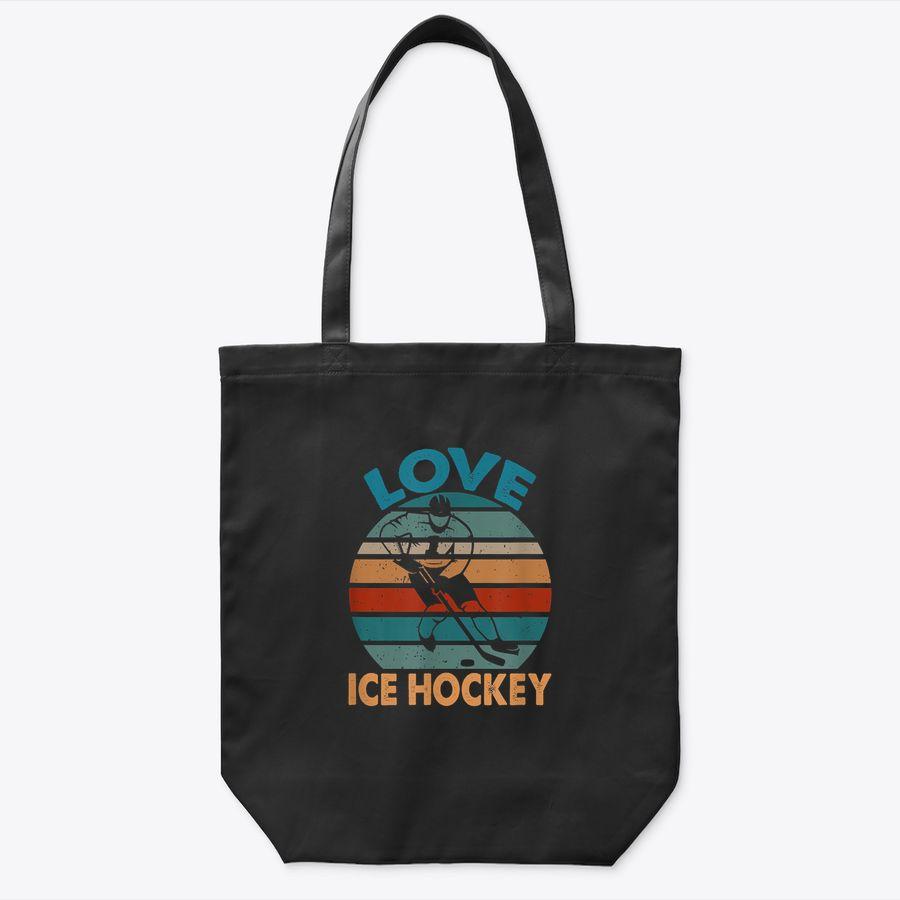 Ice Hockey Lover Vintage For Men Women Fan Gift Tote Bag