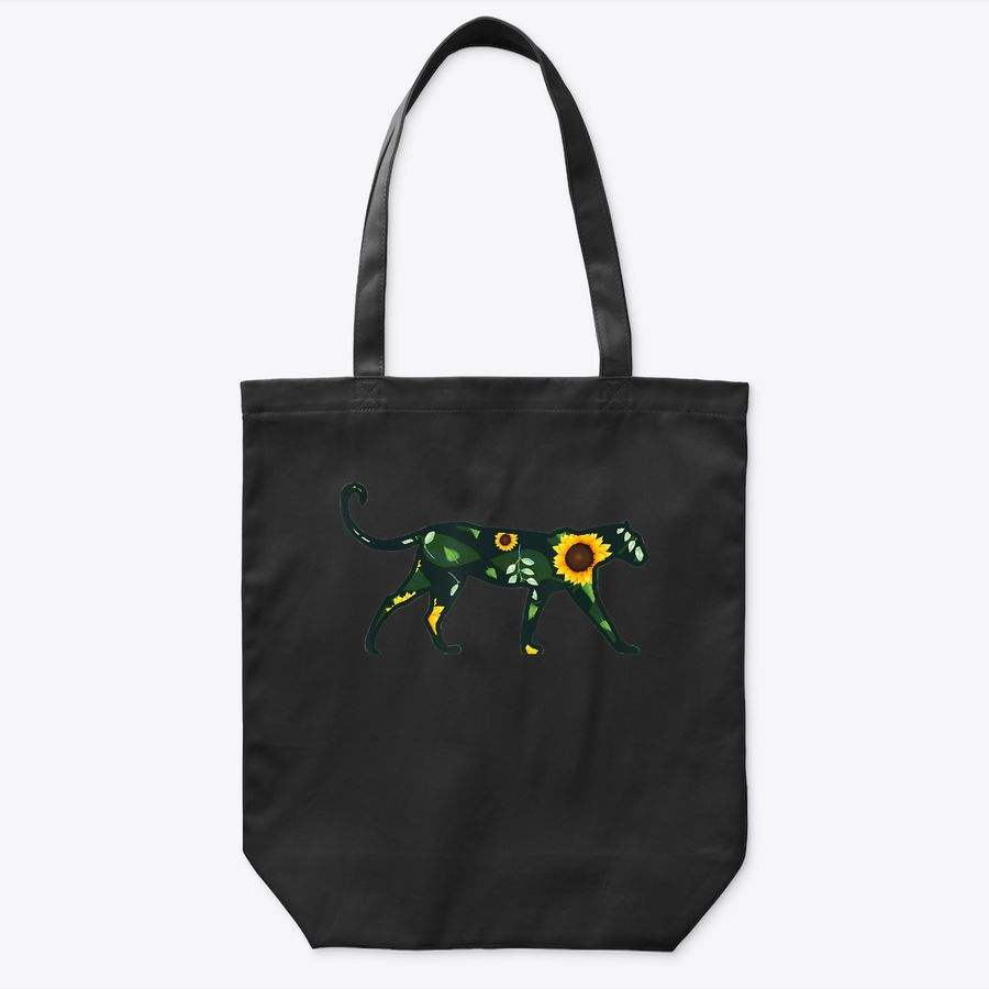 Leopard Sunflower Girl Floral Panther Hawaiian Women Gift Tote Bag