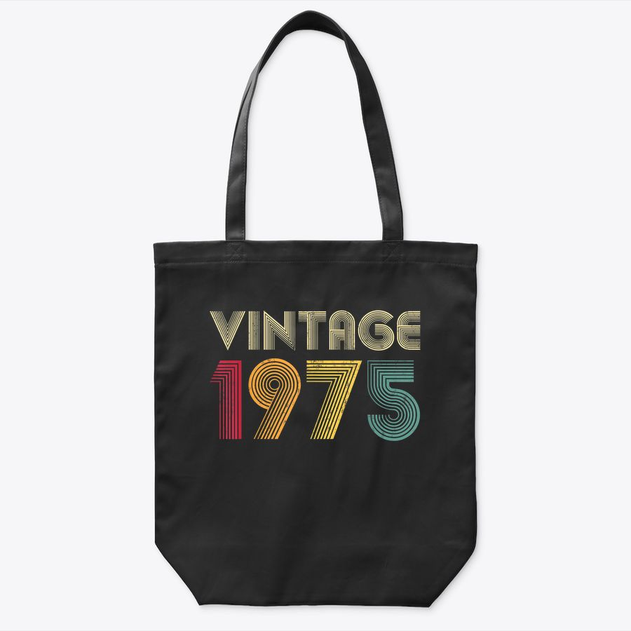 Vintage 1975 45Th Birthday Gift Retro Men Women 45 Years Old Tote Bag