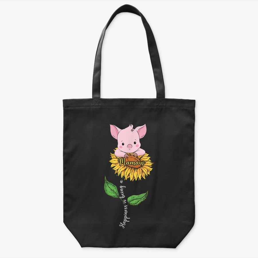 Happiness Is Being A Mamaw Pig Sunflower Tote Bag
