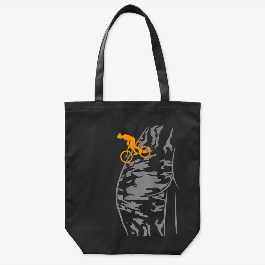 Mtb Downhill Grey Mountain Bike Bicycle Accessories Cyclist Tote Bag