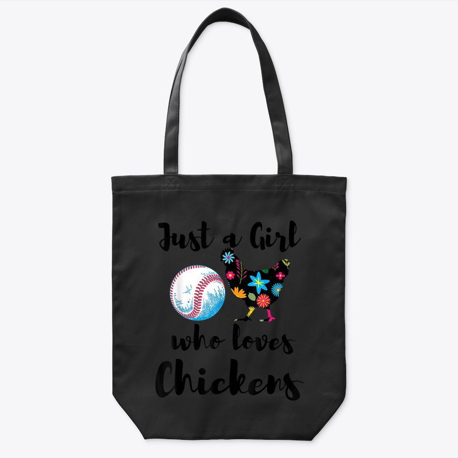 Just A Girl Who Loves Chickens And Baseball Tote Bag