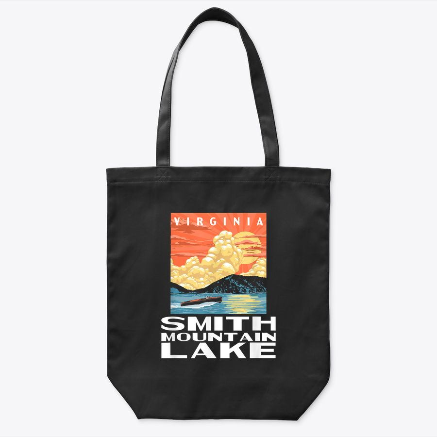 Retro Smith Mountains Lake Virginia Wpa Style Vintage Tote Bag