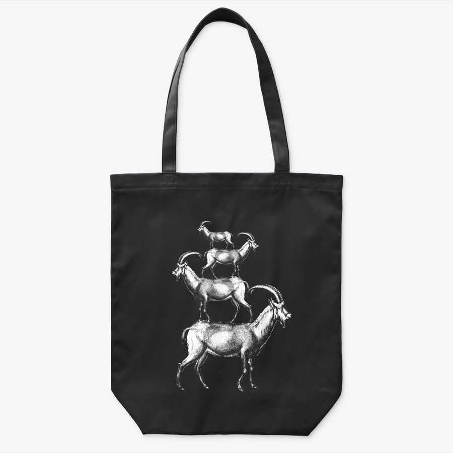 Vintage Goats Pile Farmer Gift Retro Mountains Goat Lovers Tote Bag