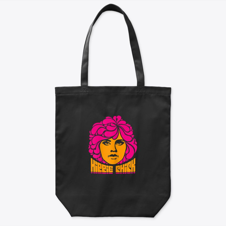 Womens Flower Child Hippie Chick Bohemian Sixties Gypsy Tote Bag