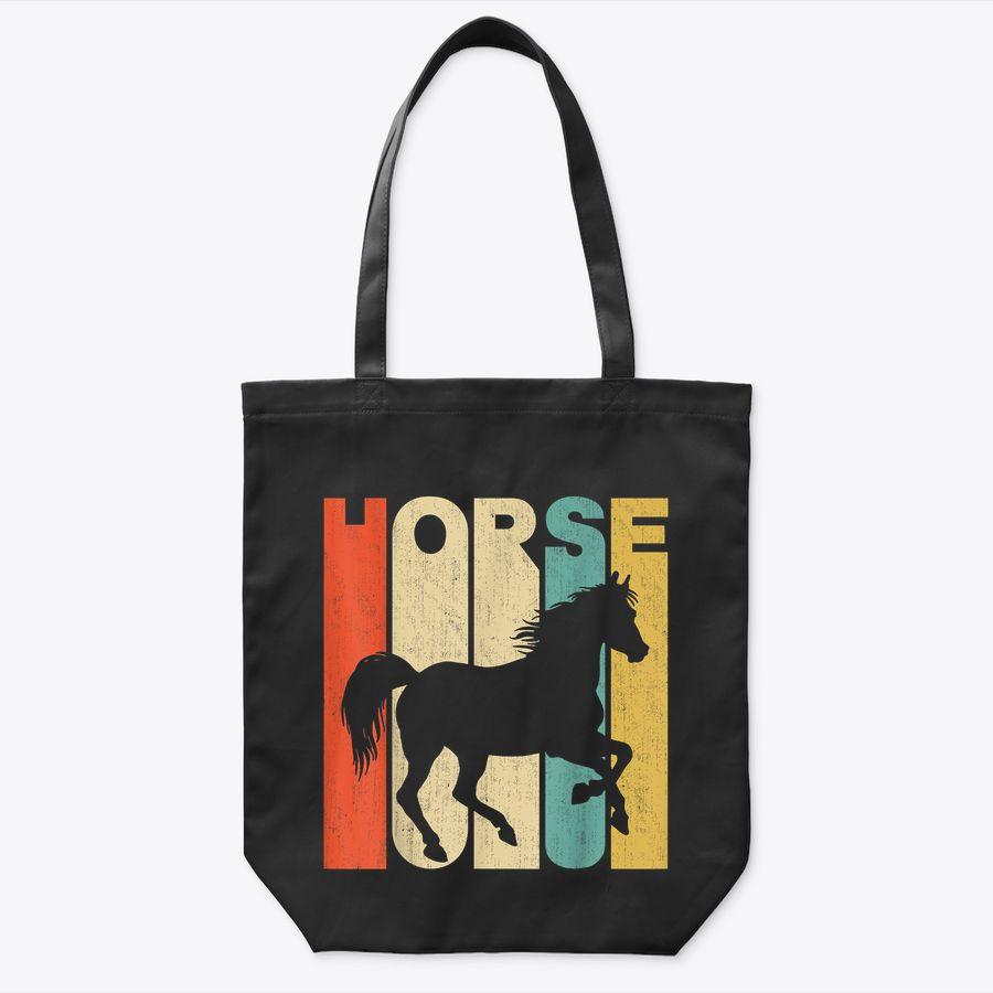 Vintage Retro Style Horse Silhouette Tote Bag