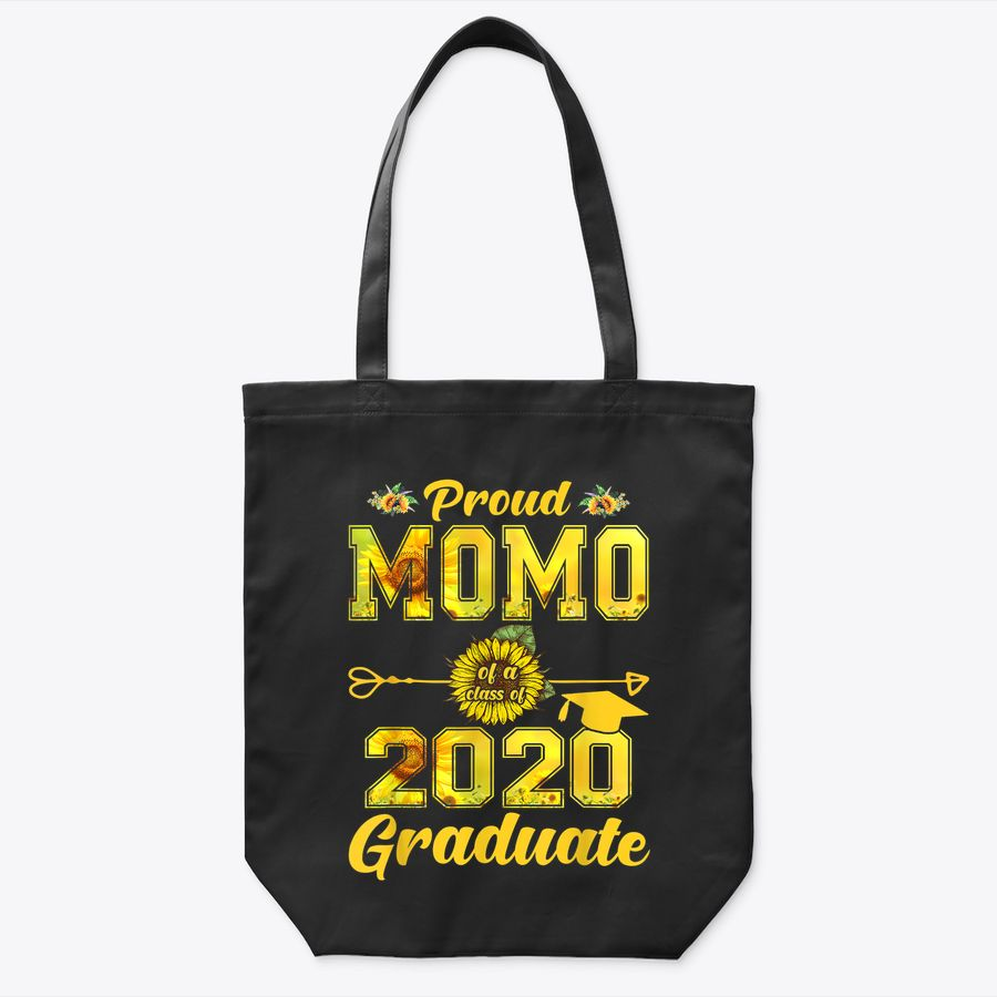 Proud Momo Of A Class Of 2020 Graduate Sunflower Senior 20 Tote Bag