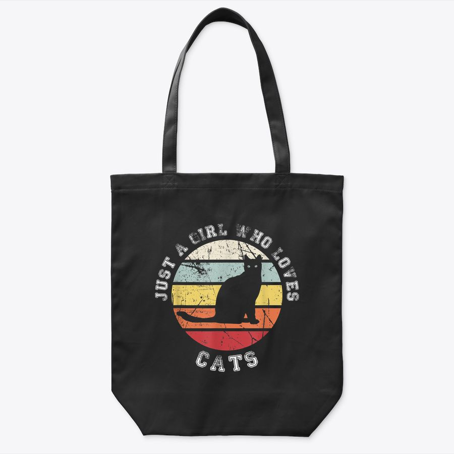 Just A Girl Who Loves Cats - Cat Tote Bag