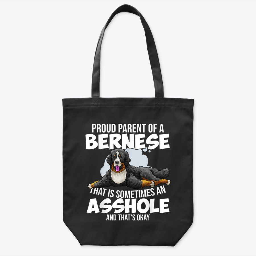 Bernese Mountain Dog Breed Portrait Funny Pet Tote Bag