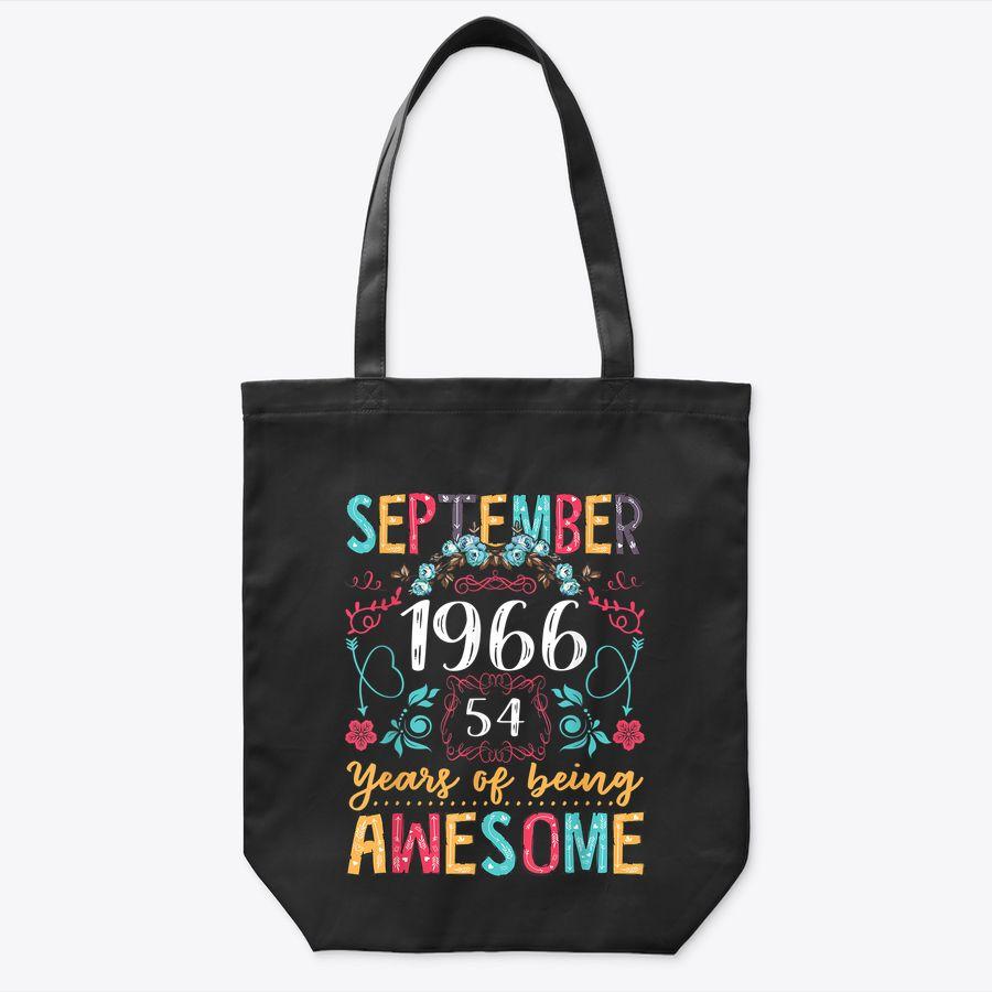 Flower Vintage September 1966 54Th Bday Gift 54 Years Old Tote Bag