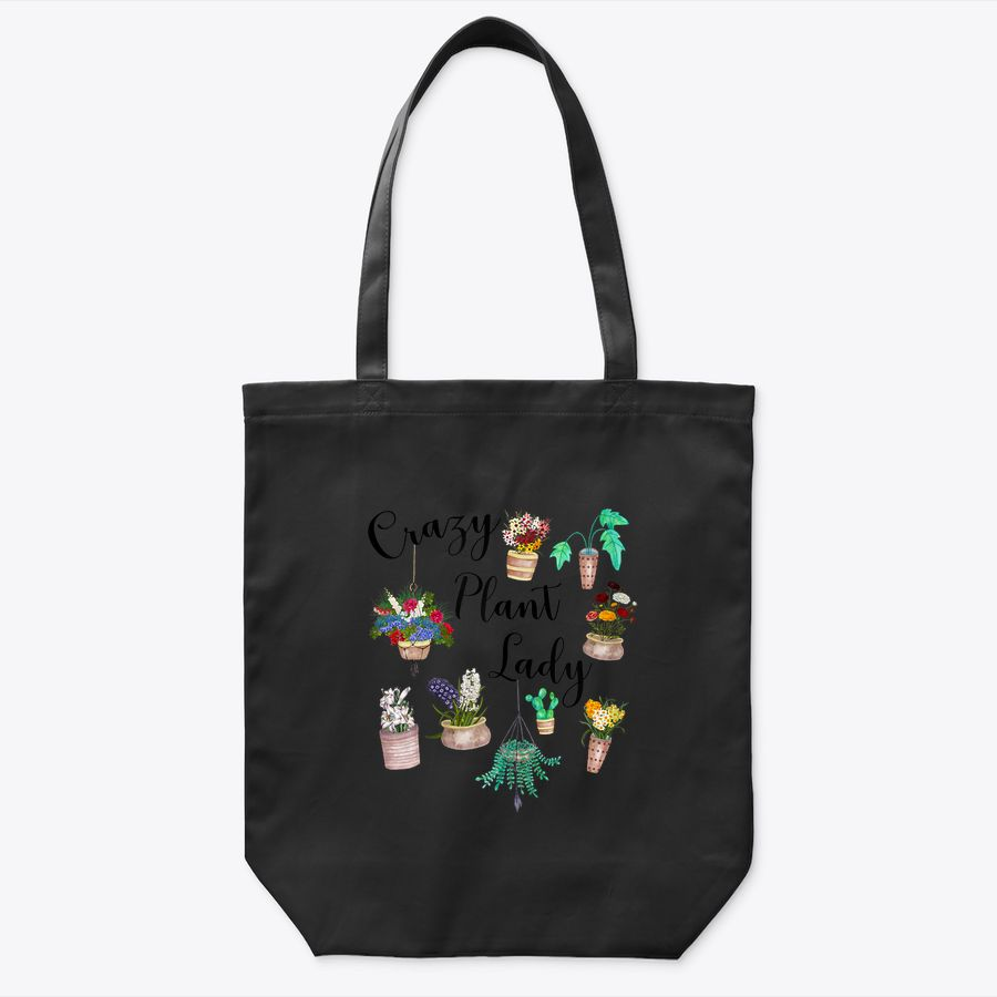 Womens Crazy Plant Lady Funny & Cute Flower & Succulent Houseplants Tote Bag