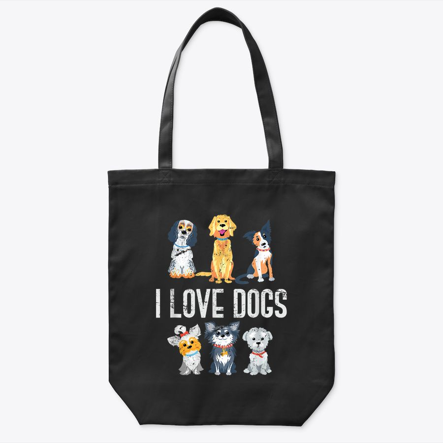 I Love Dog Tote Bag