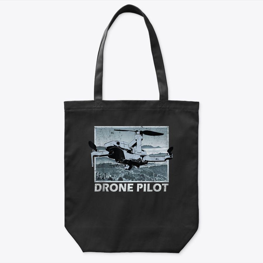 Drone Pilot Over Mountains Mini Pro Vintage Tote Bag